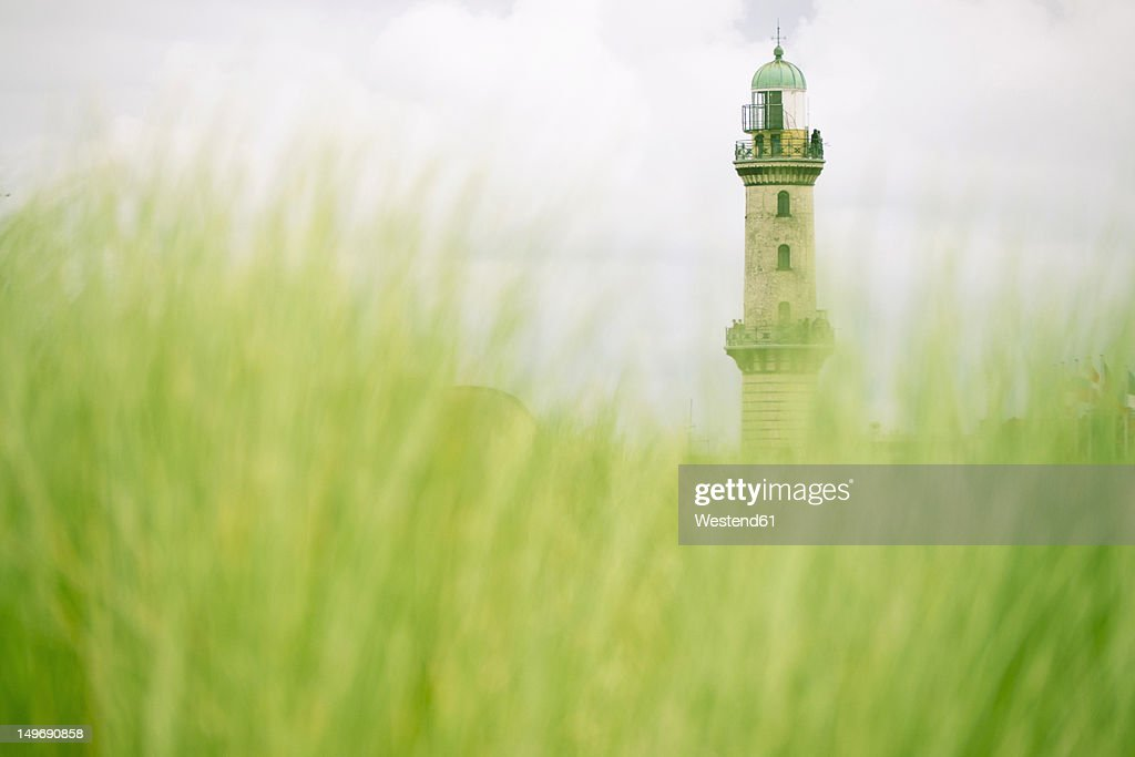 Germany, Rostock, View of lighthouse