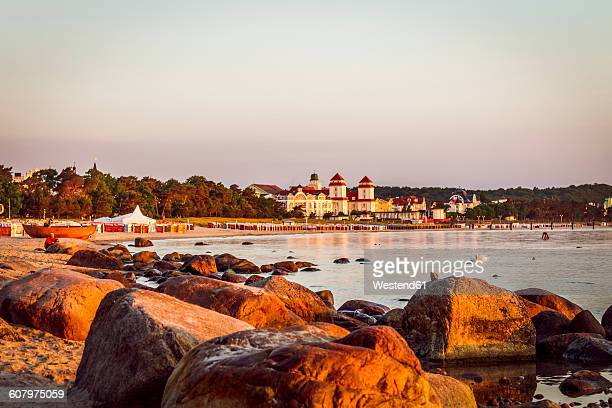 Germany, Ruegen, Binz, beach in the evening