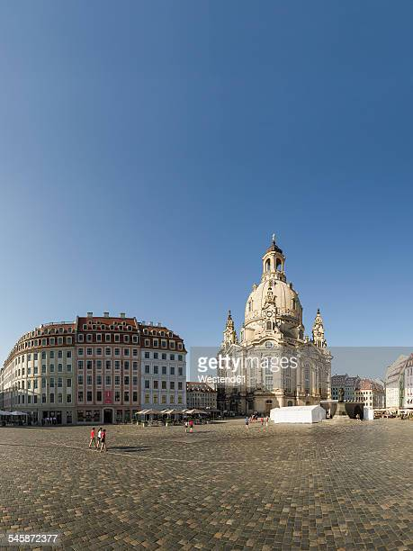 Germany, Saxony, Dresden, view to Church of Our Lady at Neumarkt