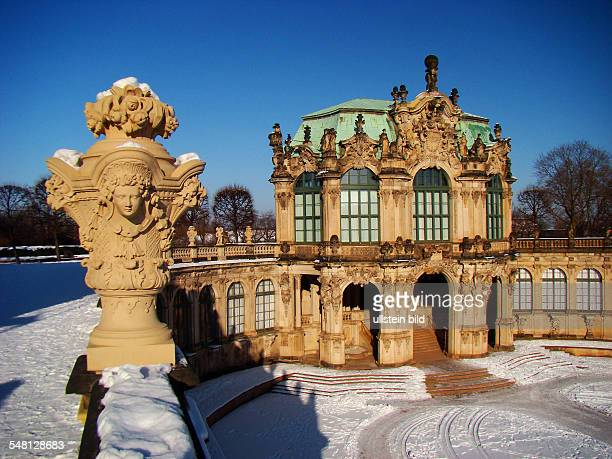Zwinger view to the Wallpavilon in the winter