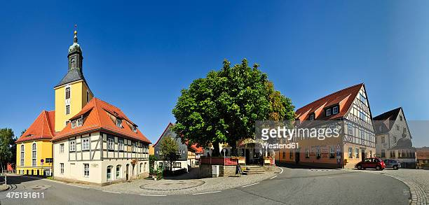 Germany, Saxony, Hohnstein, Townscape with parish church
