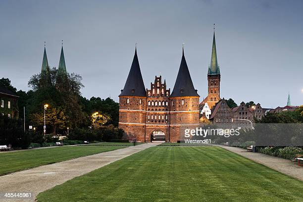 Germany, Schleswig Holstein, Luebeck, View of  St petri church