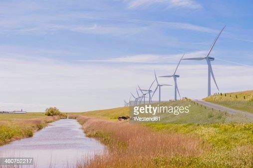 Germany, Schleswig-Holstein, View of wind turbine in fields
