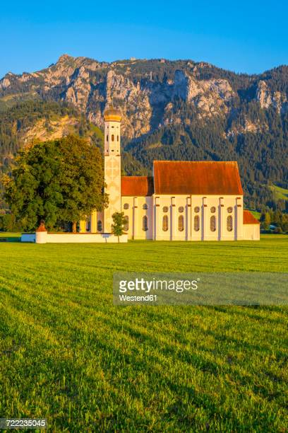 Germany, Schwangau, pilgrimage church St. Coloman, mountain Saeuling in background