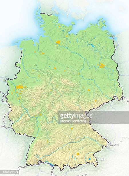 Germany, shaded relief map