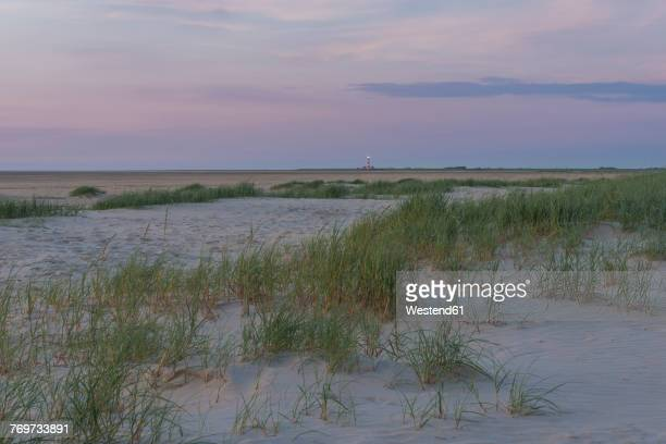 Germany, St Peter-Ording, view towards Westerheversand lighthouse