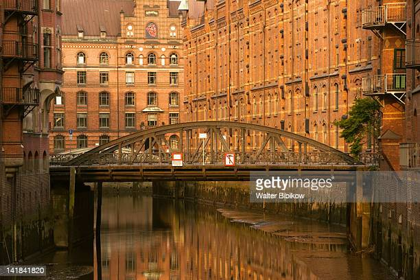 Germany, State of Hamburg, Hamburg, Speicherstadt renovated warehouse district