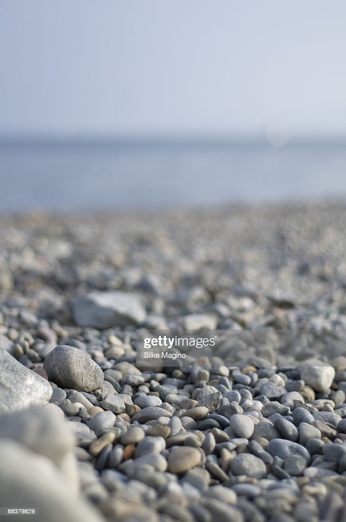 Germany, Pebbles on Lake Constance shore (selective focus)
