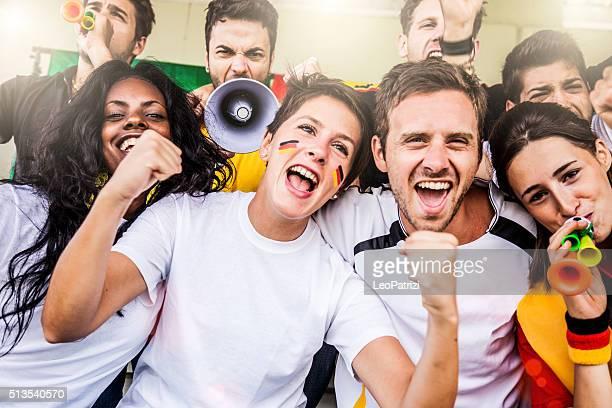 Deutschland Fan im Stadion