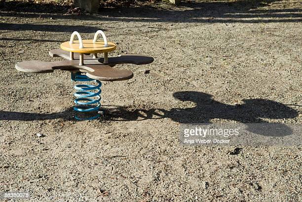 Germany, Suttgart, Spring seesaw in playground