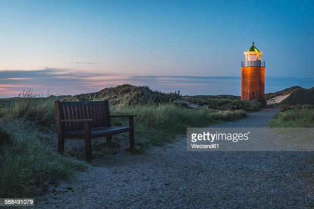 Germany, Sylt, Kampen, view to cross light