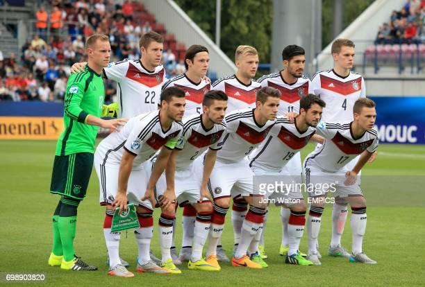 Germany team group MarcAndre ter Stegen Dominique Heintz Nico Schulz Johannes Geis Emre Can Matthias Ginter Kevin Volland Julian Korb Christian...