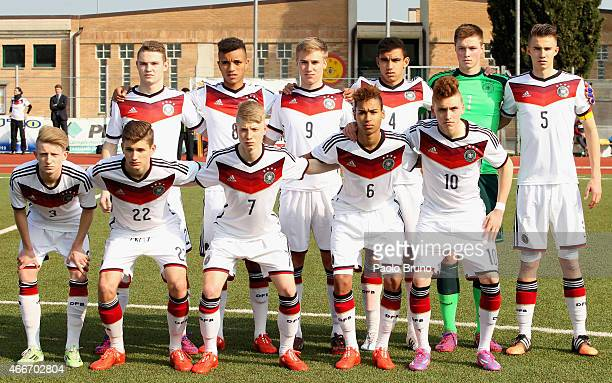 Germany team poses during the international friendly match between U16 Italy and U16 Germany on March 18 2015 in Recanati Italy