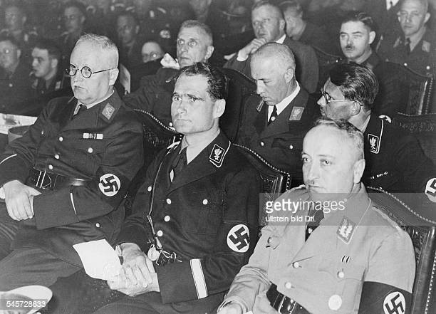 Germany Third Reich Congress in Berlin| front row from right Robert Ley Rudolf Hess Franz Xaver Schwarz| second row from right Philipp Bouhler...