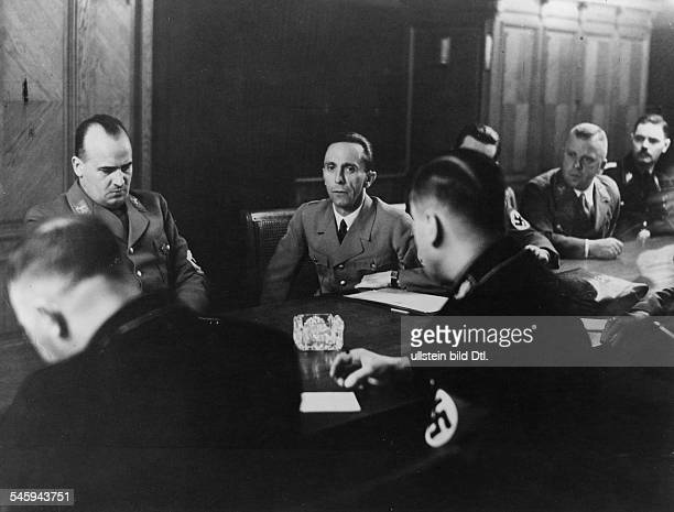 Germany Third Reich Congress of Nazi Party leaders in Berlin| back row from left the President of the Academy for German Right Hans Frank Joseph...