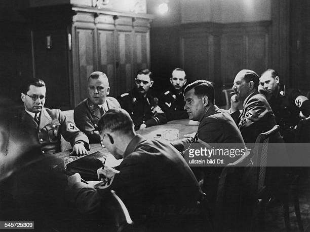 Germany Third Reich Congress of Party officials in Berlin front row from left Mayor Karl Fiehler Hitler Youth Leader Baldur von Schirach Franz Ritter...