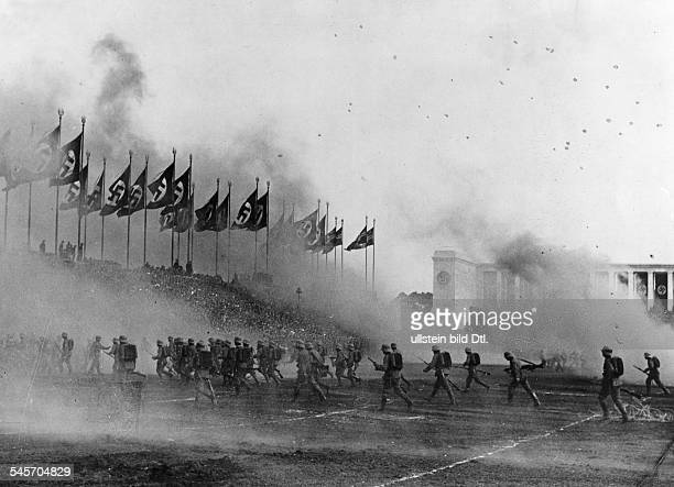 Germany Third Reich NSDAP Nuremberg Rally 1936 Exercises of the 'Wehrmacht' at the rally ground