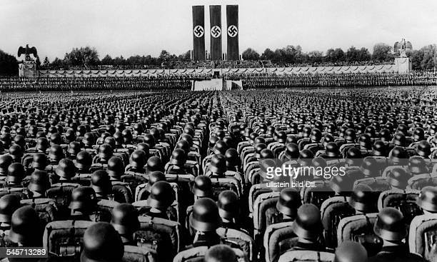 Germany Third Reich NSDAP Nuremberg Rally 1936 Parade of the NSDriver's Corps the SA and the SS at the rally ground