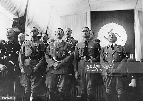 Germany Third Reich NSDAP Nuremberg Rally 1937 Official opening of the Party Convention in the convention hall from left the head of the SS Heinrich...