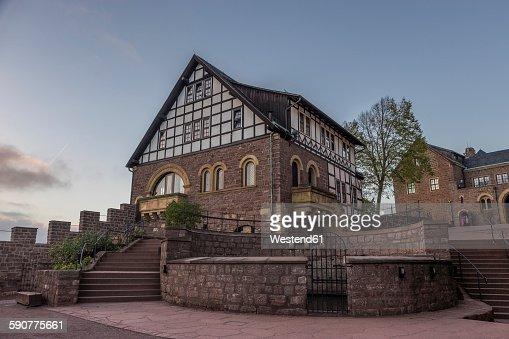 Germany, Thuringia, Eisenach, Wartburg in the evening