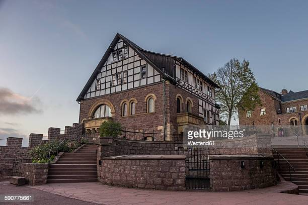 Germany, Thuringia, Eisenach, Wartburg in the evening