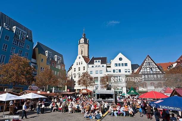 Germany, Thuringia, Jena, People celebrating city festival at market place