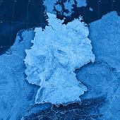 Germany Topographic Map