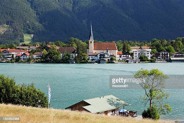 Germany, Upper Bavaria, Rottach-Egern, View of town near Tegernsee lake