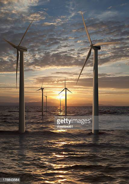 Germany, Wind turbines in North Sea