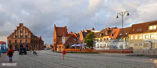 City gates and walls ruins monasteries and churches apartment houses and other attractions along the route of the brick Gothiclike here in Wismar...