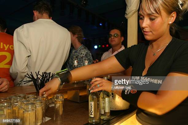Young persons at nightlife Alcoholic mixed drinks at the bar Bacardi Rigo