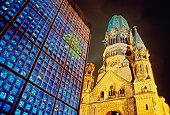 Germany,Berlin,Kaiser Wilhelm and modern Kaiser Friedrich Churches