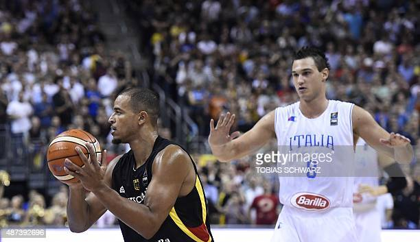 Germany's Alex King and Italy's Danilo Gallinari vie for the ball during the EuroBasket group B match Italy vs Germany in Berlin September 9 2015 AFP...