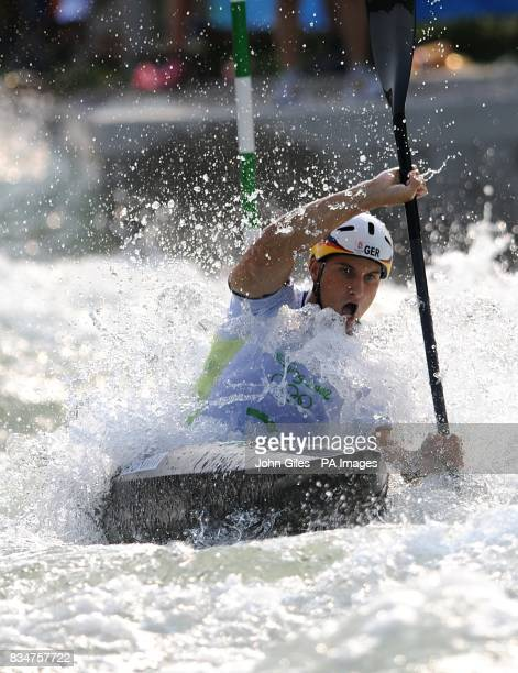 Germany's Alexander Grimm during the kayak men's semifinal at the Shunyi RowingCanoeing Park in Beijing China during the 2008 Beijing Olympic Games