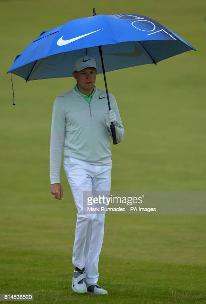 Germany's Alexander Knappe walk to the 18th hole during day two of the 2017 Aberdeen Asset Management Scottish Open at Dundonald Links Troon