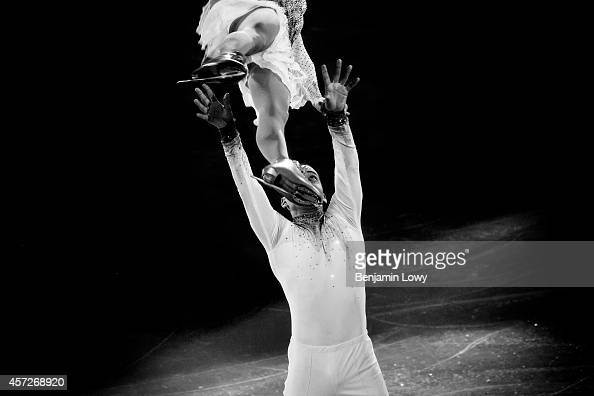 Germany's Aliona Savchenko and Germany's Robin Szolkowy perform at the Figure Skating Exhibition Gala at the Iceberg Skating Palace during the Sochi...