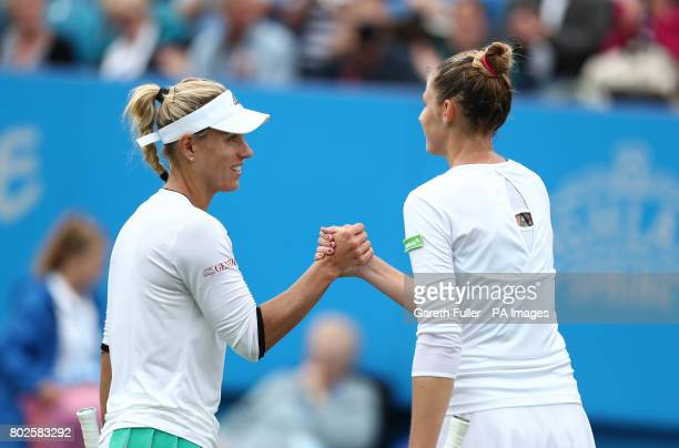 Germany's Angelique Kerber after victory against Czech Republic's Kristyna Pliskova during day six of the AEGON International at Devonshire Park...