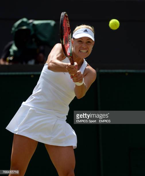 Germany's Angelique Kerber in action against Canada's Eugenie Bouchard
