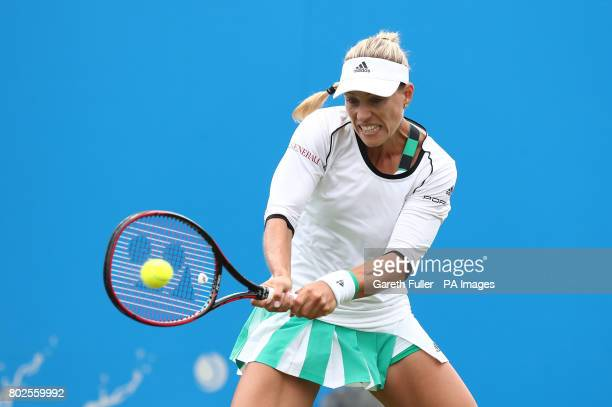 Germany's Angelique Kerber in action against Czech Republic's Kristyna Pliskova during day six of the AEGON International at Devonshire Park...