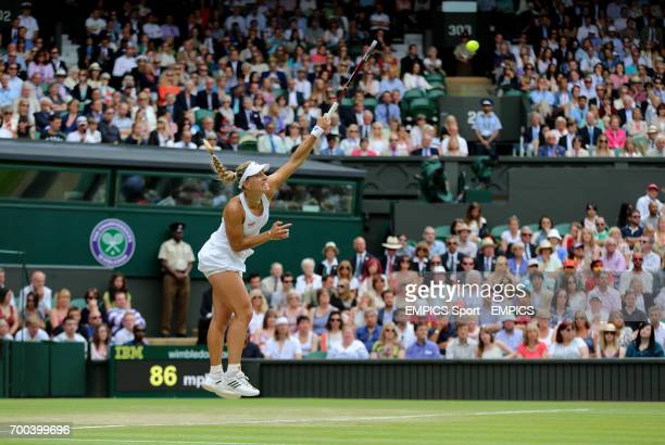Germany's Angelique Kerber in her match against Russia's Maria Sharapova