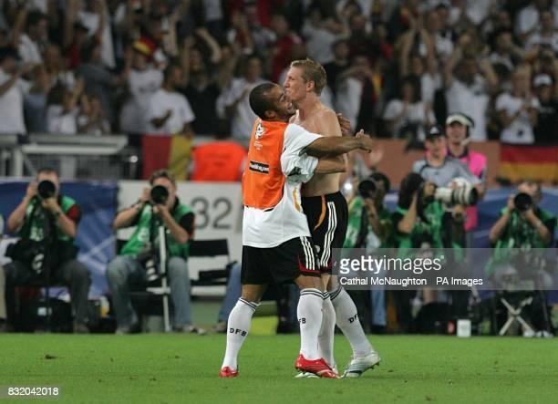 Germany's Bastian Schweinsteiger celebrates after scoring their third goal