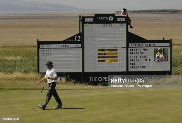 Germany's Bernhard Langer during a practice session at Royal Liverpool Golf Club Hoylake