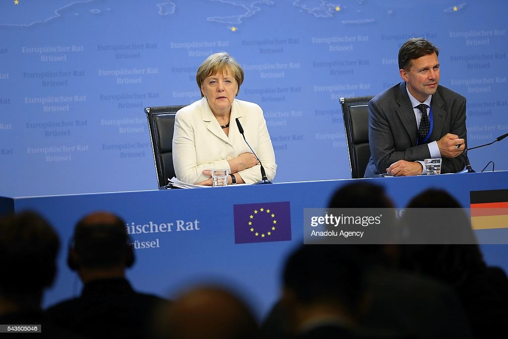 Germany's Chancellor Angela Merkel holds a press conference after EU summit meeting on June 28, 2016 in Brussels, Belgium.