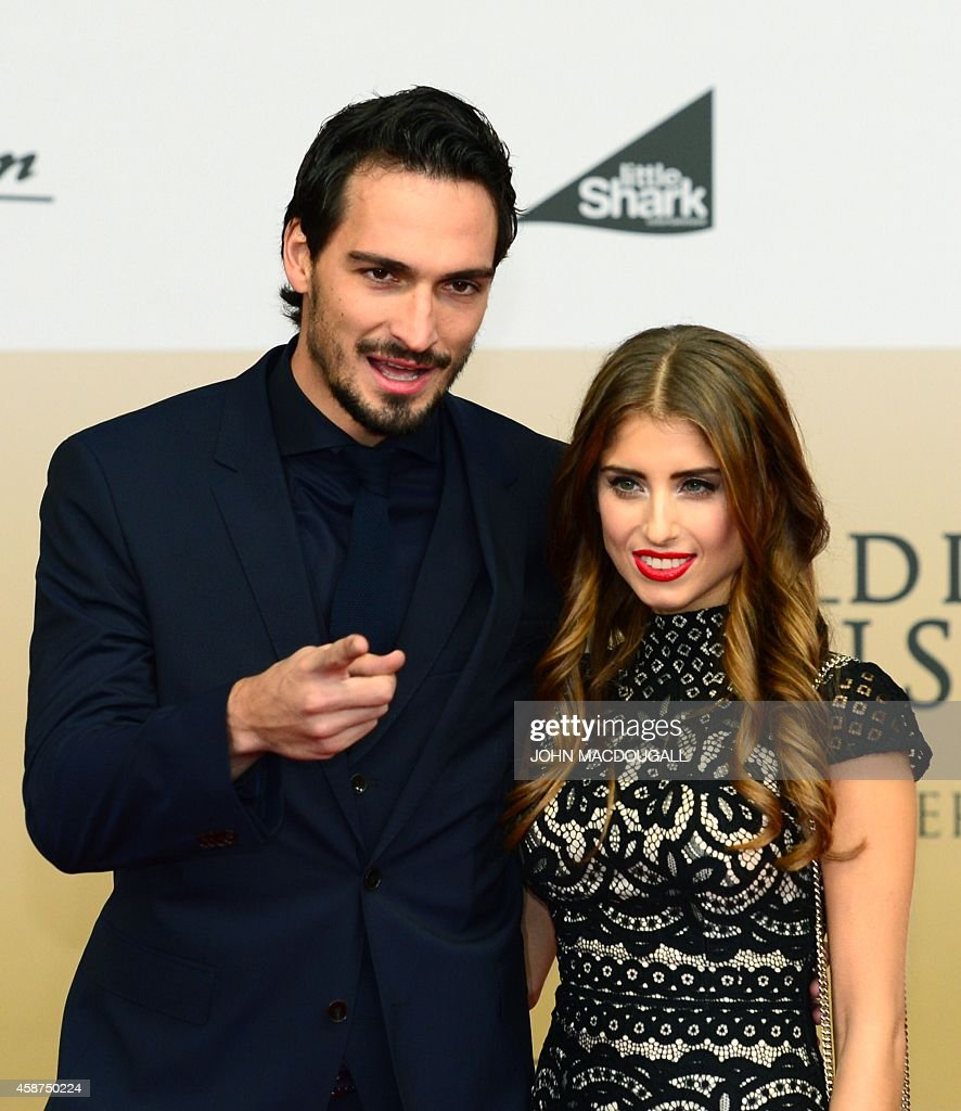 Germany s defender Mats Hummels and his girlfriend Cathy Fischer