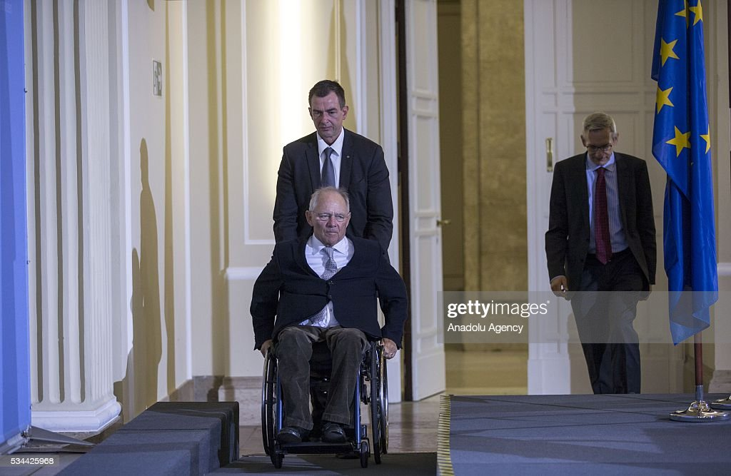 Germany's Federal Minister of Finance Wolfgang Schaeuble holds a press conference for members of the foreign correspondent's club (VAP) at the finance ministry in Berlin, Germany on May 26, 2016.
