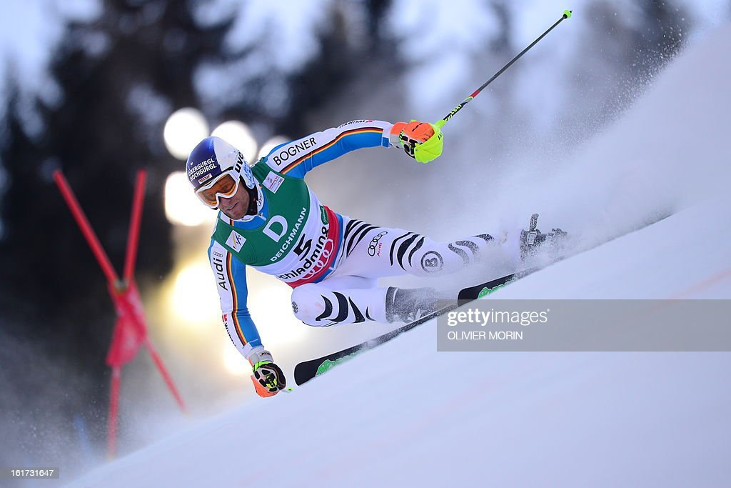 Germany's Fritz Dopfer skis during the first run of the men's Giant slalom at the 2013 Ski World Championships in Schladming, Austria on February 15, 2013. AFP PHOTO / OLIVIER MORIN