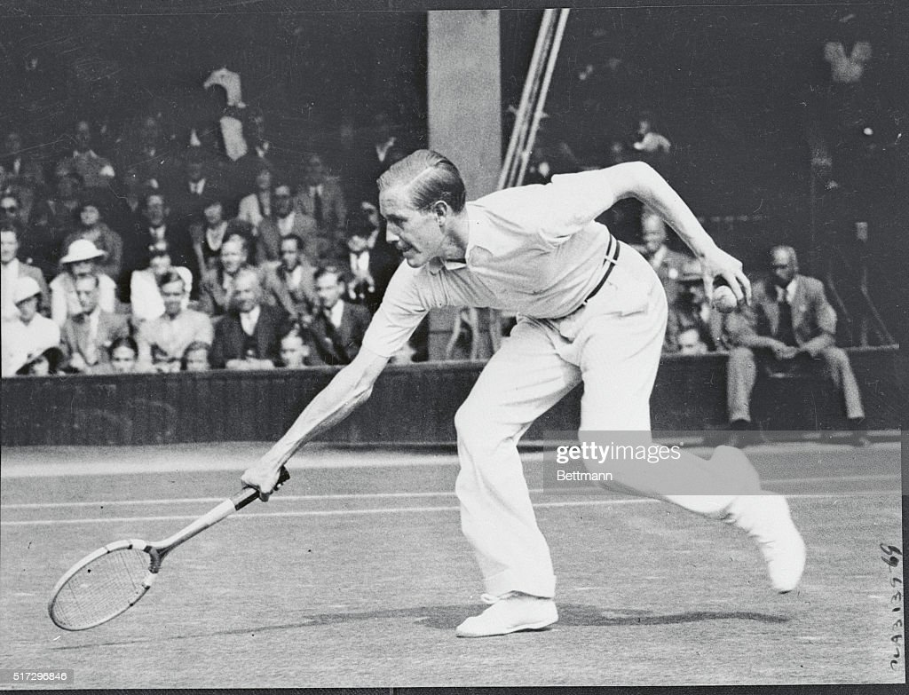 Von Cramm Playing Tennis