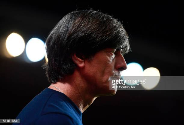 Germany's head coach Joachim Loew looks on ahead the FIFA World Cup 2018 qualification football match between Czech Republic and Germany in Prague...