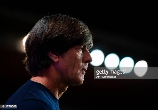 Germany's head coach Joachim Loew looks on prior to the FIFA World Cup 2018 qualification football match between Czech Republic and Germany in Prague...