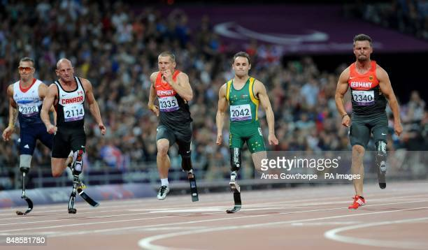 Germany's Heinrich Popow wins the Men's 100m T42 Final at the Olympic Stadium during the Paralympic Games in London